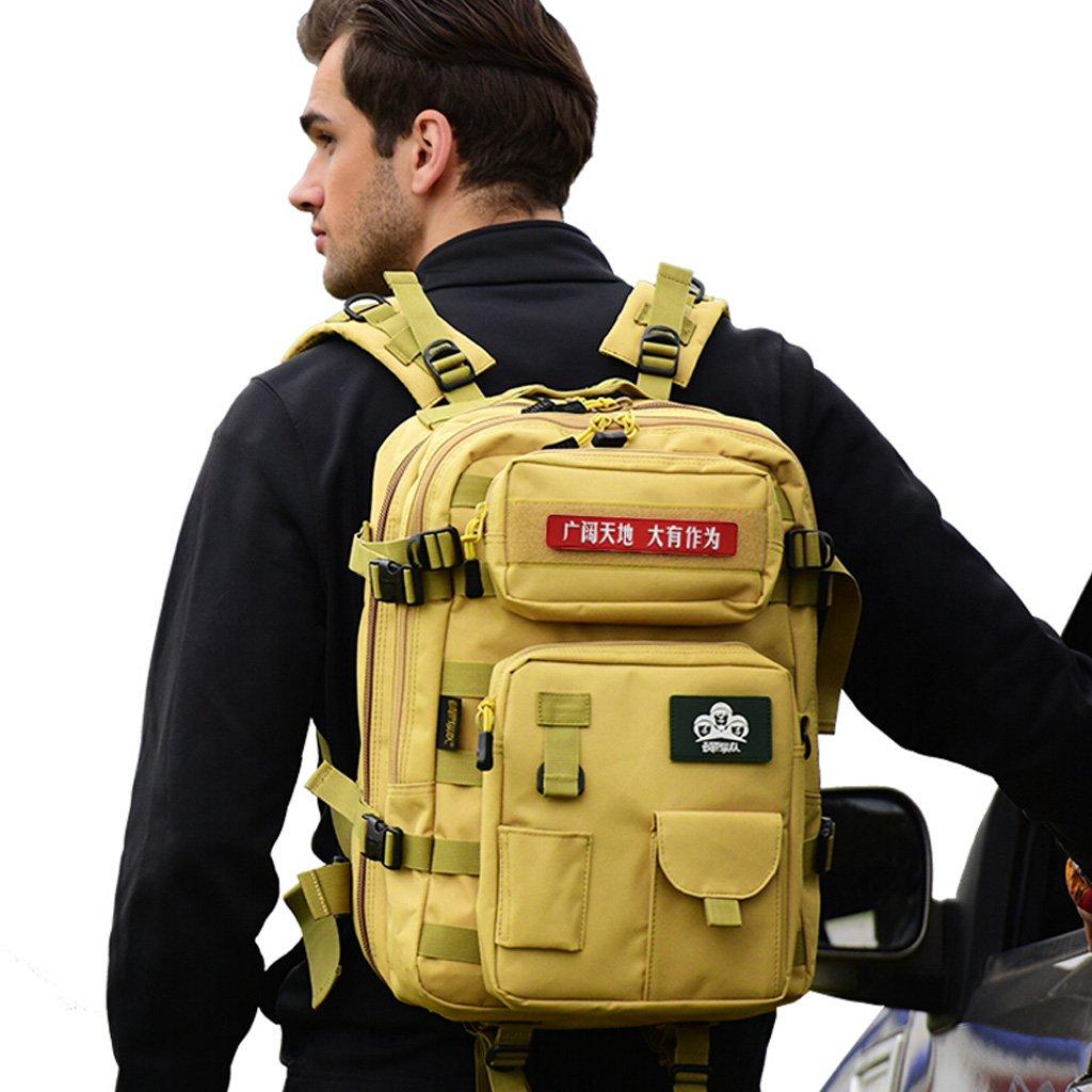 WSGZH Outdoor Bergsteigenbeutel Männer Schulter Spezielle Taktische Tasche Multifunktions-Kombination Tarnung Armee Fan Rucksack 40L (Abnehmbare Militärische Canvas Bag) 2 Farbe Optional 2