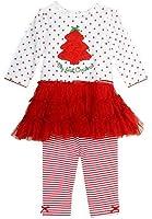 Little Me Baby-Girls Christmas Tutu Dress Legging Set