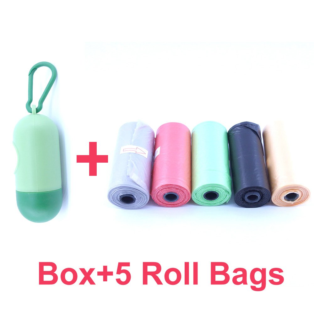 75 Disposable Diaper Refill Bags with Free Capsules Diaper Bag Dispenser,Unscented,Color May Vary ROMIRUS BS14S+5Roll