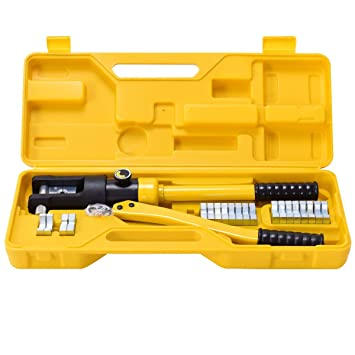 12 Ton 11 Dies Hydraulic Crimping Tool Crimper Wire Cable Electrical Terminals 16-300 mm/²