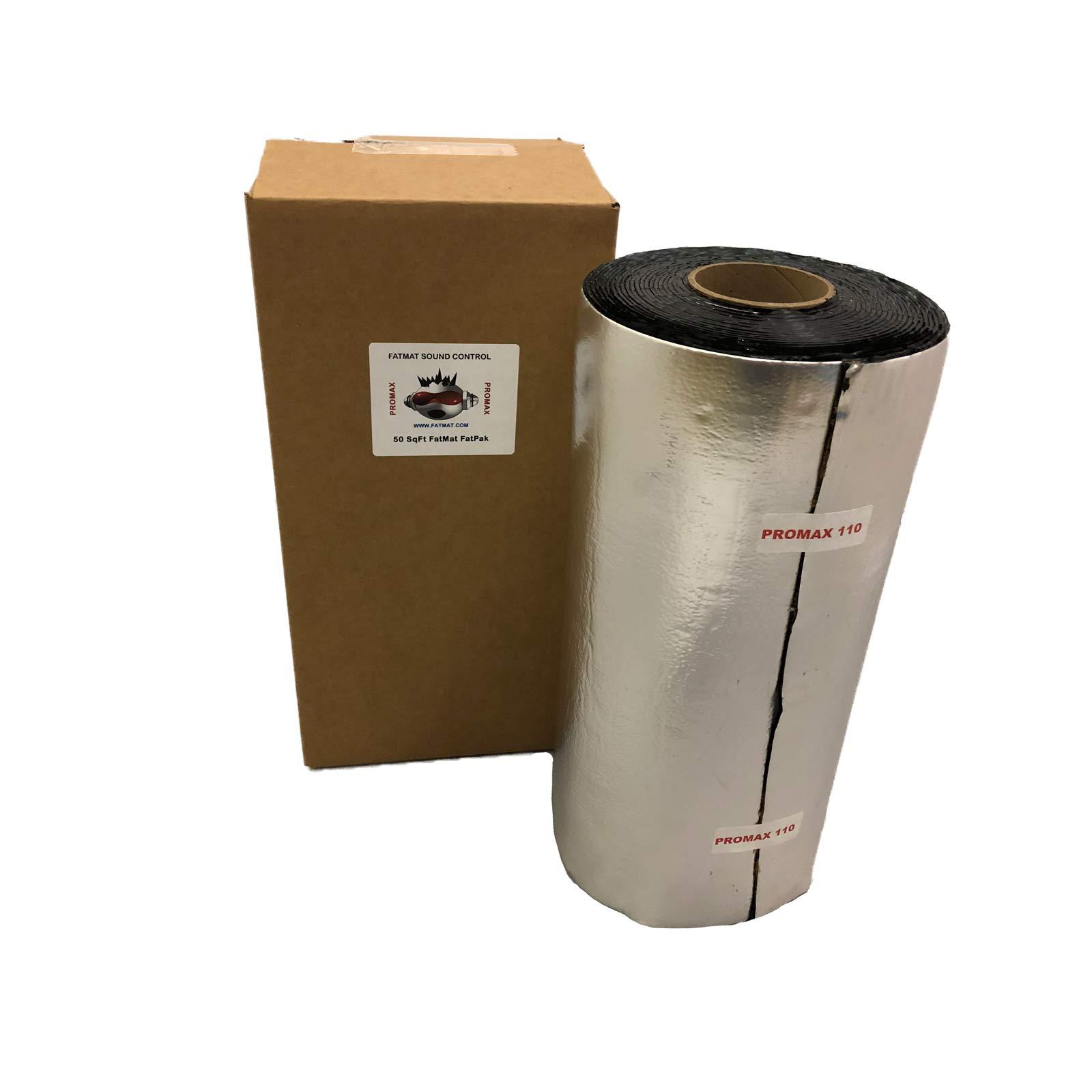 FatMat ProMax 110mil Self-Adhesive Sound Deadener with Install Kit (50 Sq Ft)