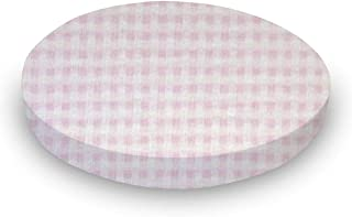 product image for SheetWorld Fitted Oval (Stokke Mini) - Pink Gingham Jersey Knit - Made In USA