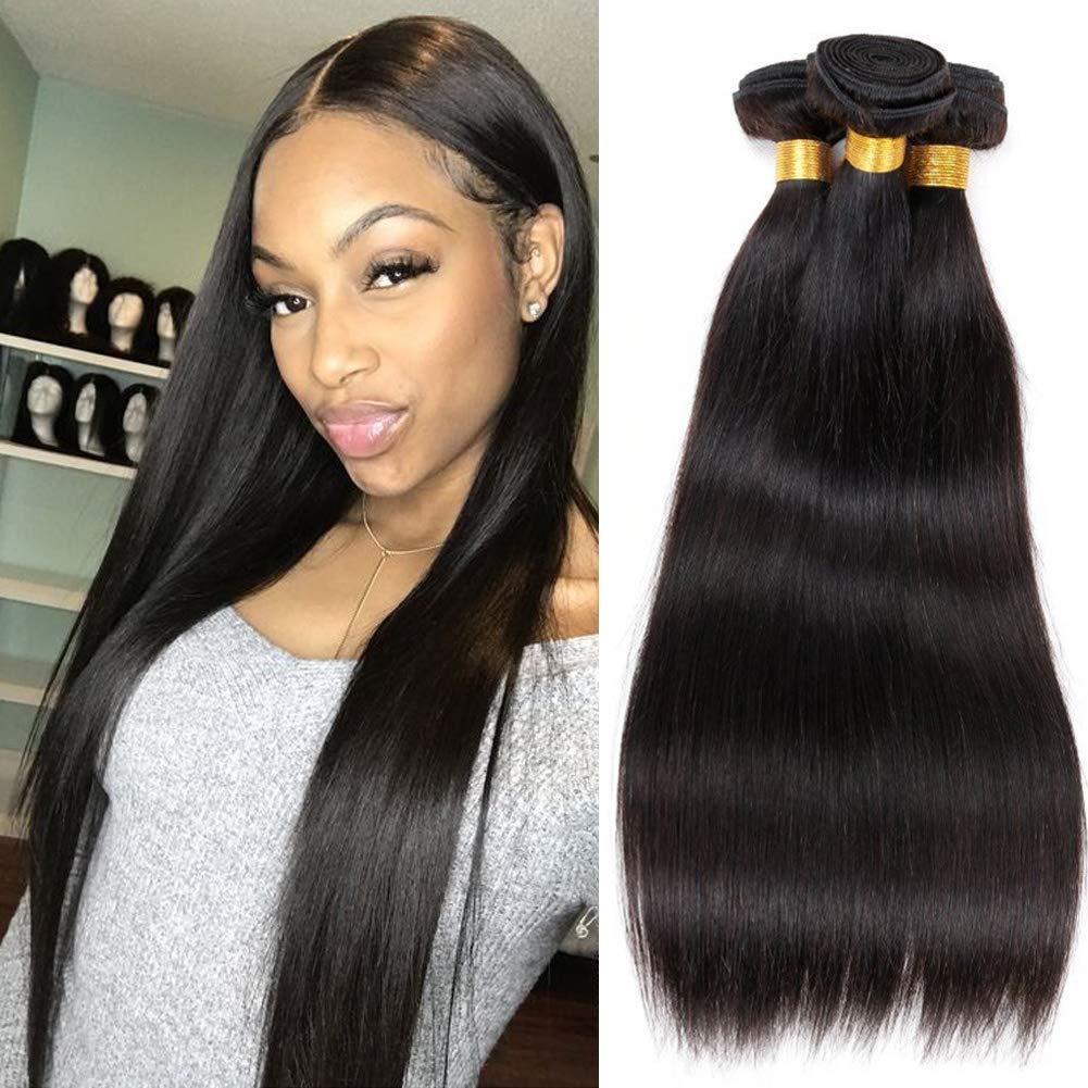 Amazon Com Newness Brazilian Straight Hair 24 26 28 30 Inch Long Length Unprocessed Virgin Straight Weave Human Hair Bundles 7a Remy Human Hair Natural Color 4pcs Lot Total 400g Beauty