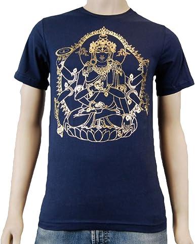 Amazon Com Surya Design Men S Yoga T Shirt Navy Clothing