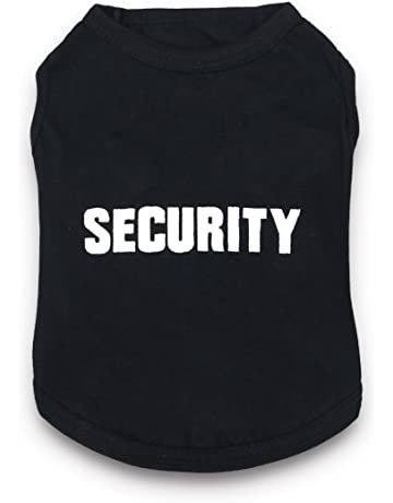9854d97f DroolingDog Dog Clothes Security Letters Dog T-Shirt Pet Costume Dogs