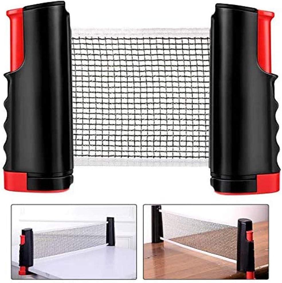 Red de tenis de mesa portátil, retráctil, accesorio para jugar al ping pong en interiores, perfecto para la escuela, hogar, oficina, apto para mesa de 70 pulgadas