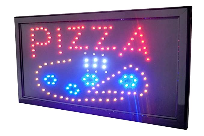 LETRERO LUMINOSO LED - PIZZA. LUZ, NEON, IDEAL PARA ...
