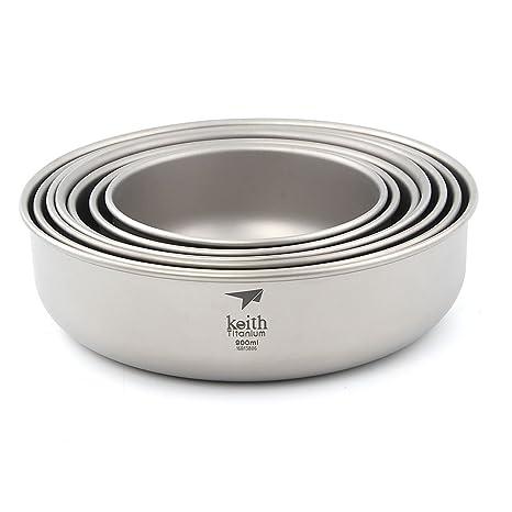 Keith Camping Pure - Cubertería de cocina (300 ml-900 ml), Ti5375