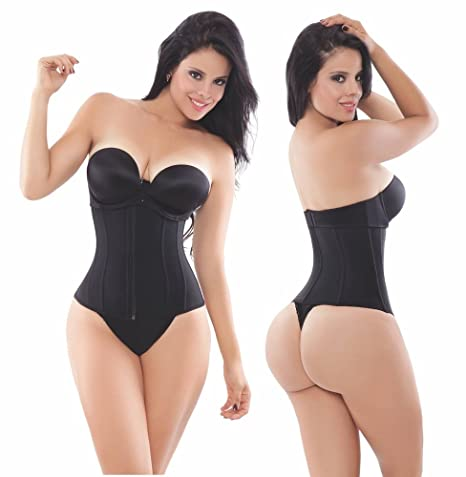e7577270552 Amazon.com   Ann Michell Waist Trainer - Powernet Latex Free Black Large 38    Everything Else