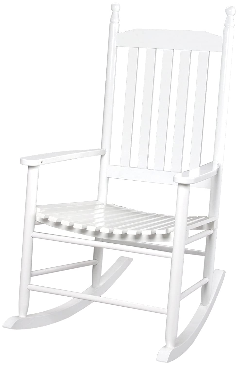 Gift Mark Adult Tall Back Rocking Chair, White 3400W