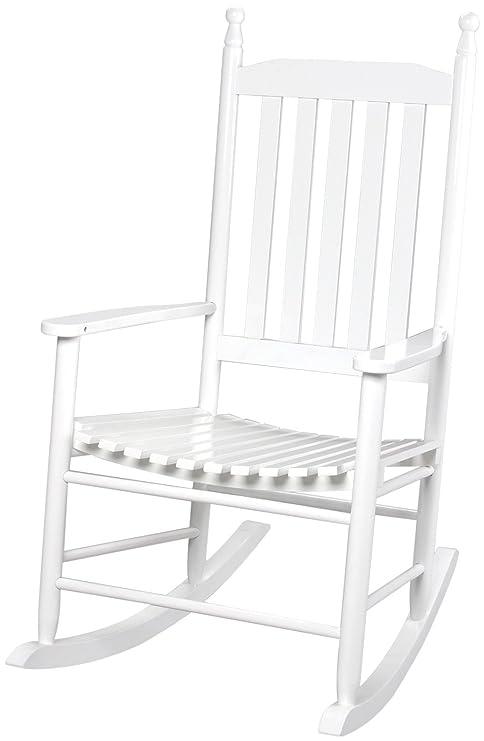 Astonishing Gift Mark Adult Tall Back Rocking Chair White Inzonedesignstudio Interior Chair Design Inzonedesignstudiocom