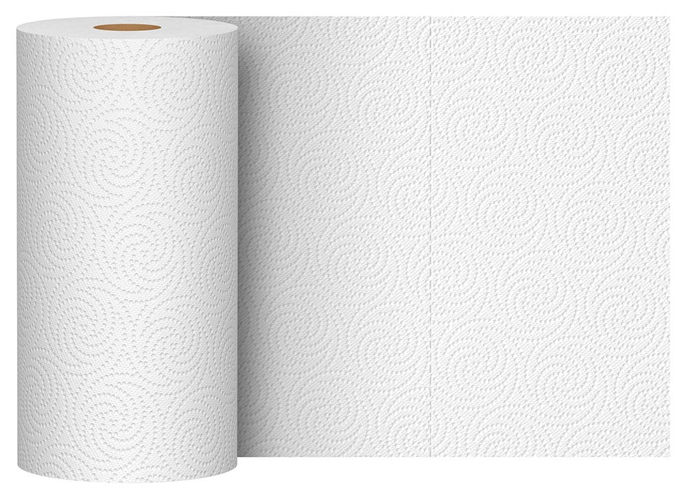 Solimo Basic Flex-Sheets Paper Towels, 12 Value Rolls, White, 148 Sheets per Roll (New Version) by SOLIMO (Image #6)