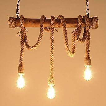 Lámpara colgante redonda industrial moderna Tarro de sombra ...