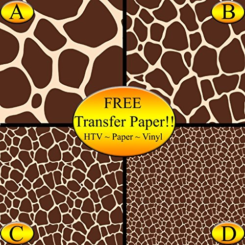 Giraffe Pattern Printed Heat Transfer Vinyl (Style C - 12 x 24) by American Sign Letters