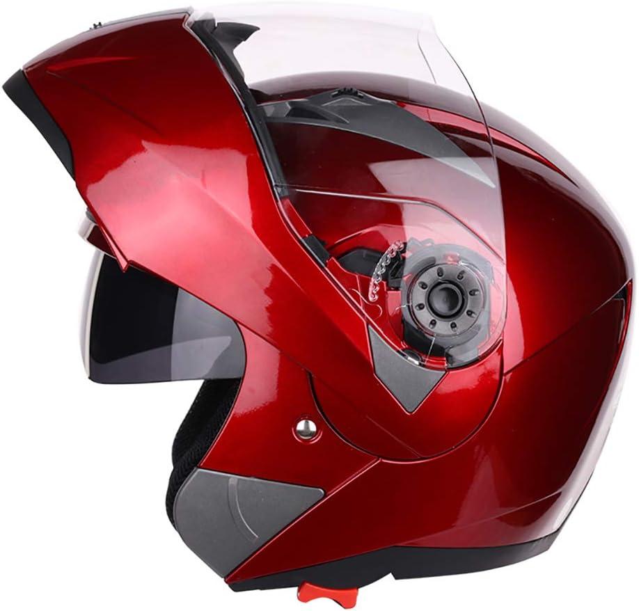 Motorradhelm Anti-Fog,Blau,M Jethelm Double Lens Herren Und Damen Elektroauto Four Seasons Motorradhelm