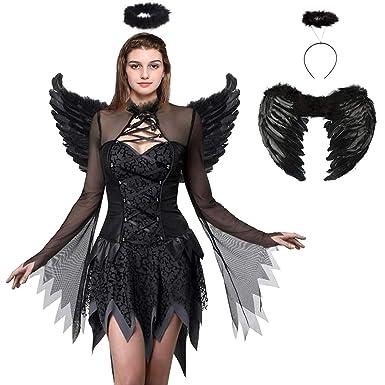 fallen angel costumes womens halloween dark fallen angel corset dresses black fallen angel corset dresses