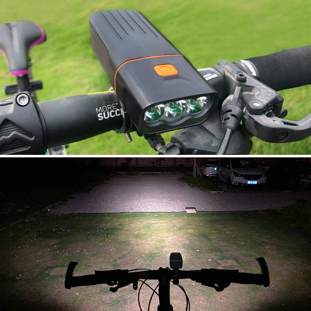 Clashduck Bike Lights,Bicycle Headlight with Bike Taillight, USB Rechargeable Bicycle Lights Set Powerful Lumens LED Bike Lights Front and Back for Kids Adults Road Cycling Safety Flashlight
