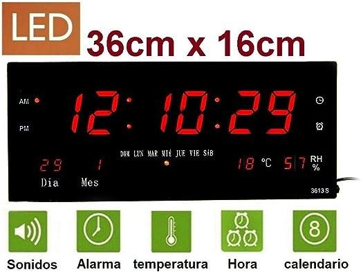 TKK Reloj de Pared y Mesa Digital Oficina Temperatura Calendario ...
