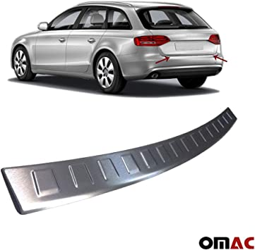 1 X Stainless Steel Rear Bumper Protector Sill Plate Cover For Audi Q5 2009-2017