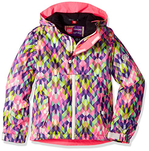 686 Girl's Belle Insulated Jacket, Kaleidoscope Print, Large by 686