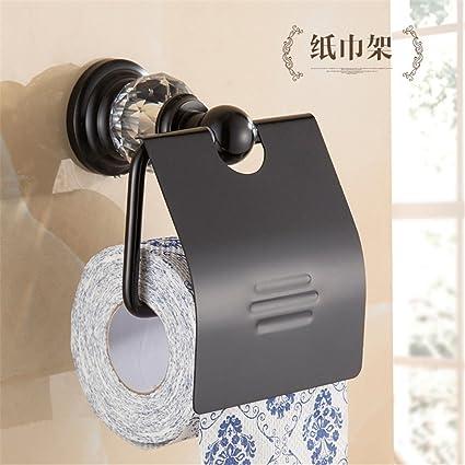 Espacio Europeo toallero Aluminio Kit de Montaje en Rack de Toallas de baño Negro, baño