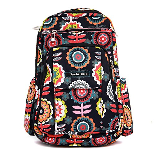 Ju Ju Be Classic Collection Be Right Back Backpack Diaper Bag Dancing Dahlias