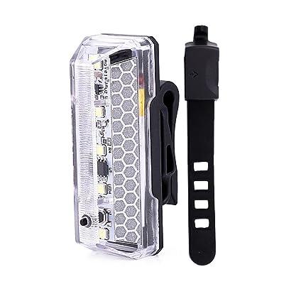 Cyclisme USB rechargeable LED arrière Bicycle Vélo étanche sécurité Warning Rear Lamp pour Budget/Randonnée