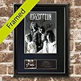 LED ZEPPELIN #2 RARE Signed BLACK FRAMED Signed Photo Re-print Print A4 21x30cm