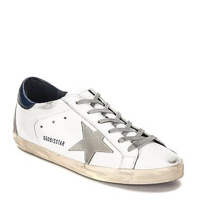 d377f9d13f1 Golden Goose Women's Superstar Sneaker GCOWS590.A7-17PF White/Blue (EU 37