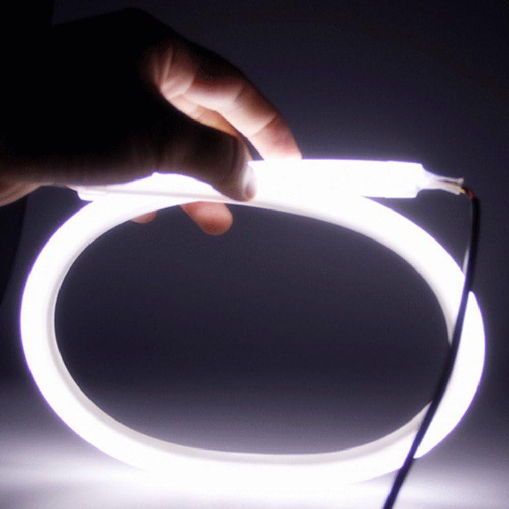 TABEN 2x White 6000K Headlight LED Tube Strip Light Flexible DRL Daytime Running Light /& Turn Signal Lamp for Audi-Style Headlight 85CM