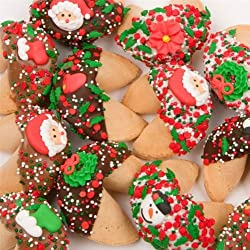 Holiday Fortune Cookies Individually Wrapped - Set of 12