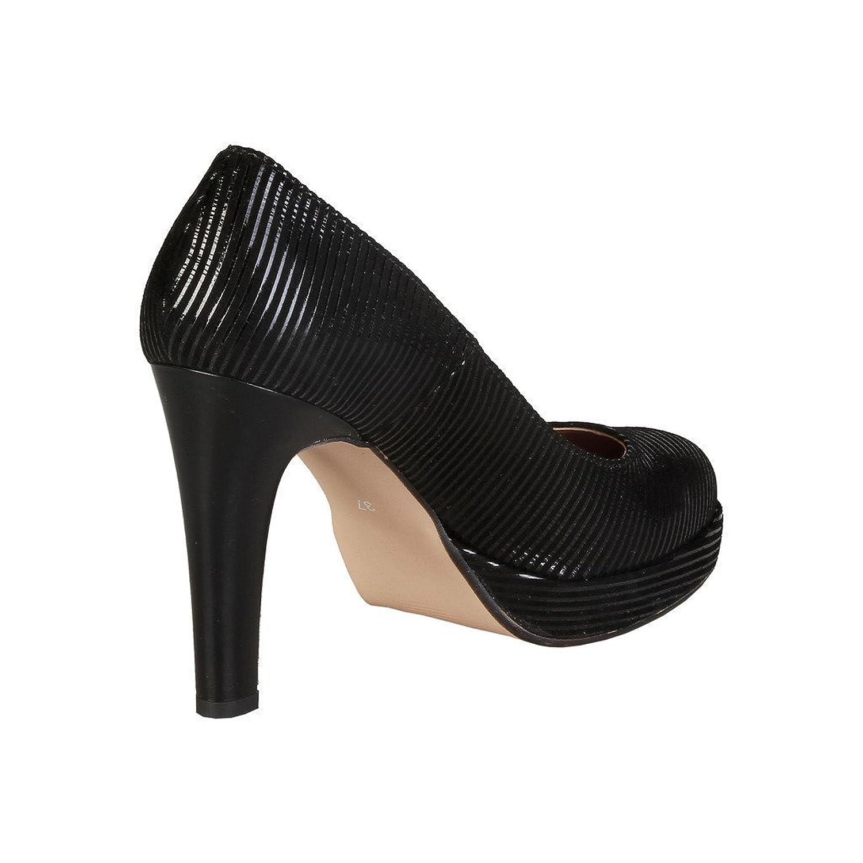 V 1969 - MELODIE_NERO Pumps Scarpe Col Tacco Donna Tacchi A Spillo Tacco:10  cm, Piattaforma 2 cm: Amazon.it: Scarpe e borse