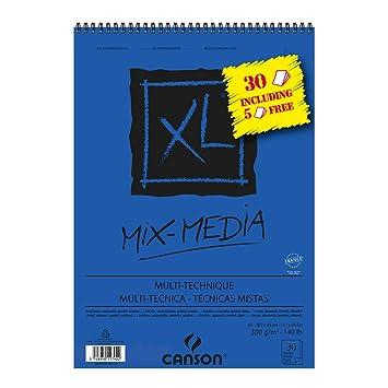 "CANSON Skizzen und Studienblock /""XL MIX MEDIA/"" DIN A4 30 Blatt"