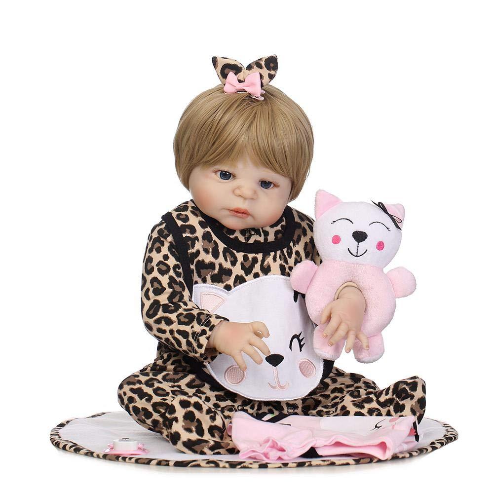 muñeca Reborn bebé Simulación a Prueba de Agua de Silicona Suave Reborn Baby Dolls Juguetes Artificiales de la muñeca - Matefielduk