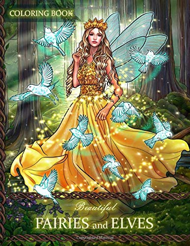 Beautiful Fairies and Elves: Coloring Book For Experienced User (Stress Relief) pdf epub