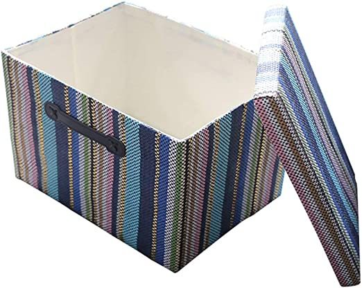 HWZXBCC Caja de Almacenamiento Decorativa con Tapa para Organizador de Oficina | Cestas de Almacenamiento Decorativas con Tapas | Cesta de Regalo vacía para Juguetes: Amazon.es: Hogar