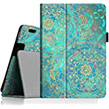 """Fintie Folio Case for Kindle Fire HDX 8.9 - Slim Fit Leather Cover (will fit Amazon Kindle Fire HDX 8.9"""" Tablet 2014 4th Generation and 2013 3rd Generation) - Shades of Blue"""