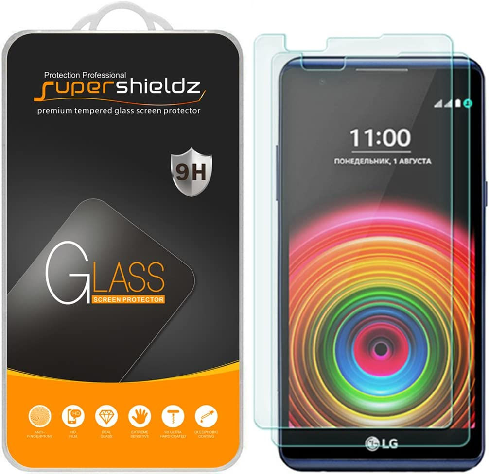 (2 Pack) Supershieldz for LG X Power Tempered Glass Screen Protector Anti Scratch, Bubble Free