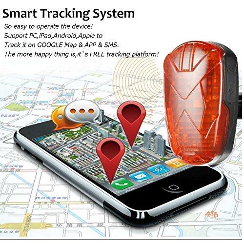 TKSTAR GPS Tracker Bicycle Taillight Tracker With Led Sensor Light
