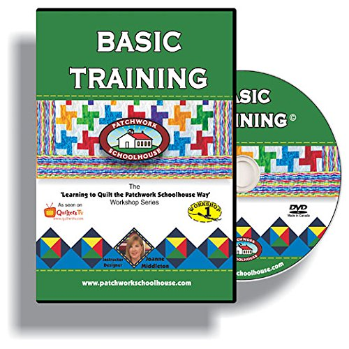 Learn to Quilt for Beginners on DVD, Basic Training is a How To Quilt as You Go Video Series from Patchwork Schoolhouse, Class Lesson 1 of -