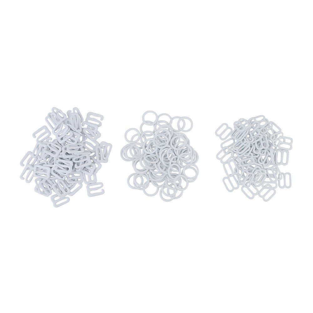 Amazon.com: 30 Sets Nylon Coated Metal Lingerie Adjustment strap slides Hardware Sewing Clips Clasp Hooks for Bra Strp (10mm, white)