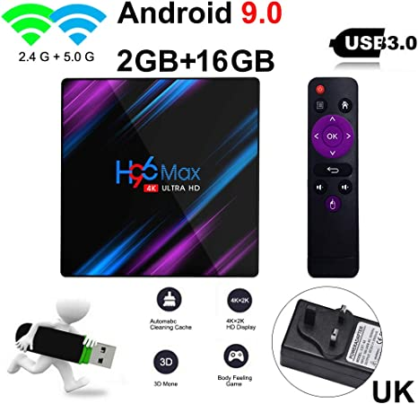 H96 MAX 2GB 16GB Android 9.0 TV Box 4K HD Smart Network Media ...