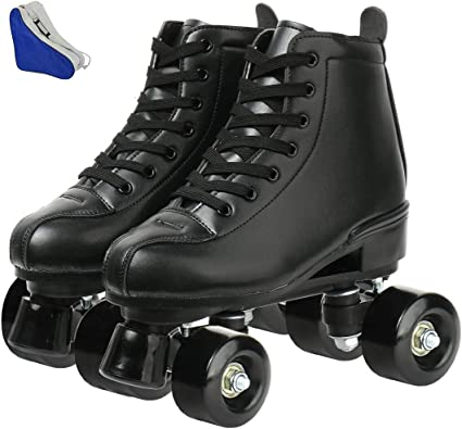 Boys and Girls with Bag Classic High-top 4 Wheels Skating Roller Double Row Skates for Indoor and Outdoor Unisex Roller Skates for Women and Mens