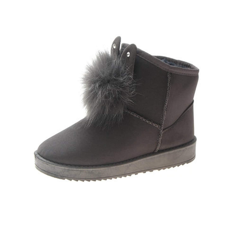Damen Damen Damen Stiefel schwarz grau Plüsch Stiefeletten Sexy Weibliche Herbst Winter Stiefel Grau (grau) 37 M EU 808e91