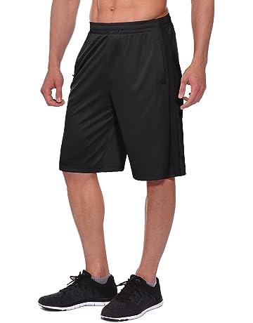 b9afa7492b29 Baleaf Men s Athletic Basketball Training Shorts Running Zipper Pockets