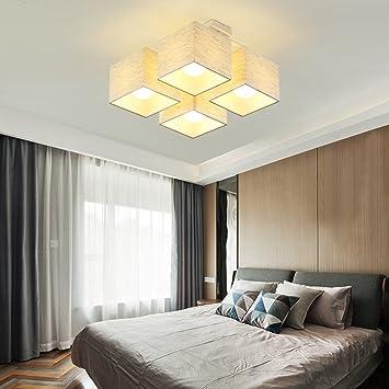 Deckenleuchten YANGFEIFEI Square Tuch LED Modern Einfache  Master Schlafzimmer Lichter Study Zimmer Lichter Wohnzimmer Beleuchtung