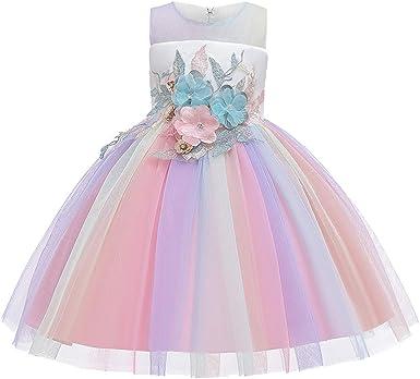 Finedayqi Girls Short Sleeve Dress Kids