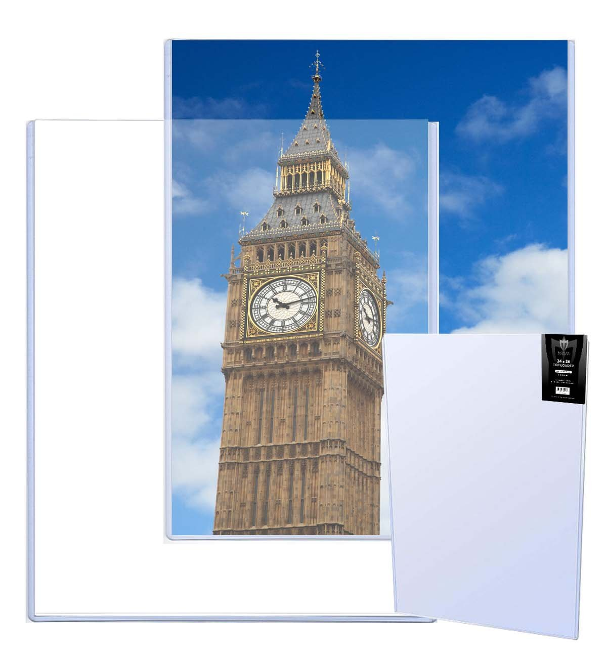 (10) 24x36 MAX Pro Poster/Lithograph/Print Hard Rigid Ultra Clear Toploader - (Qty= 10 Holders)