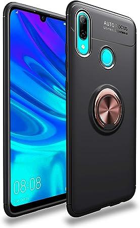 SORAKA Funda para Huawei P Smart 2019 con Anillo Giratorio de 360 Grados Funda Silicona Suave Funda Ultrafina con Placa de Metal para Soporte magnético de teléfono para automóvil: Amazon.es: Electrónica