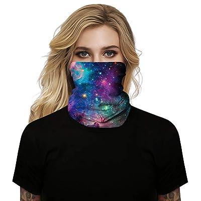 Simayixx Headwear Face Protective Cover Unisex Seamless Outdoor Turban Neck Windproof Sun Protection Dust Bandana (Purple, Free Size): Clothing